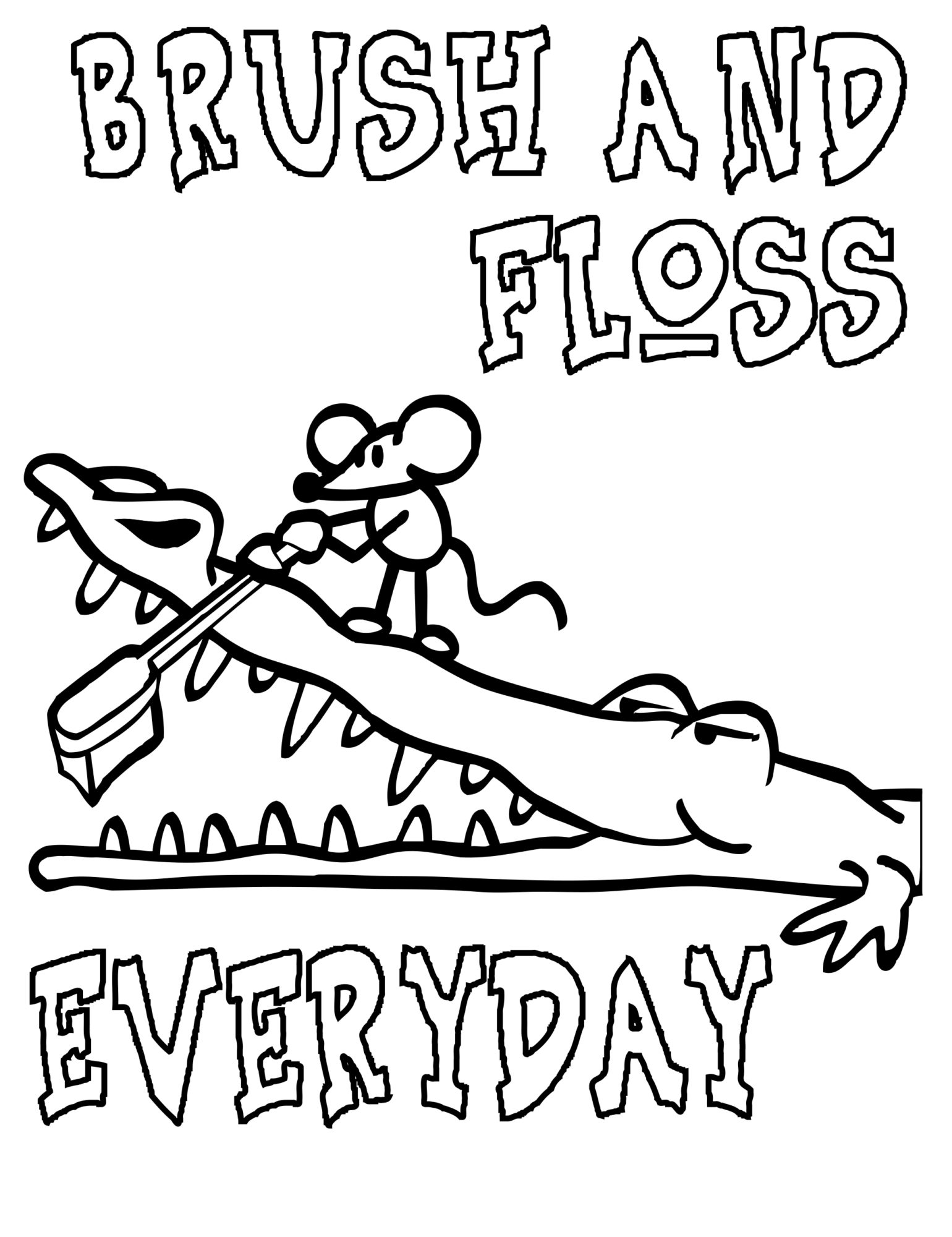 Colouring in pages dental - Coloring Pages