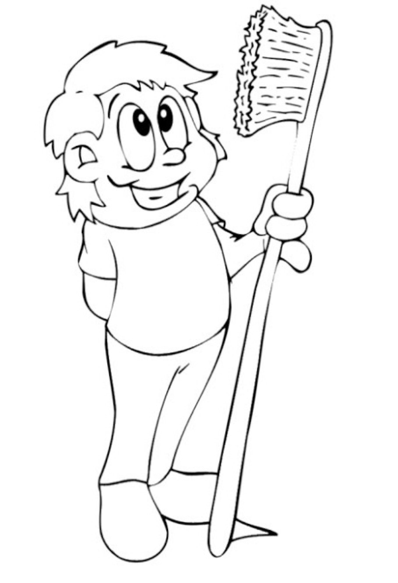 toothbrushing coloring pages - photo#31