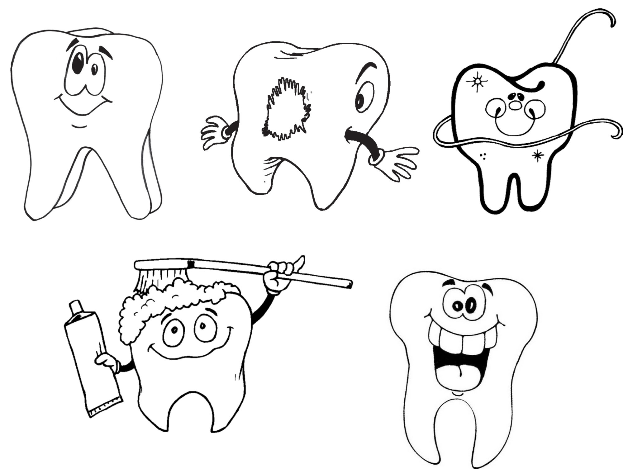 Free Coloring Pages Of Teeth Dentist
